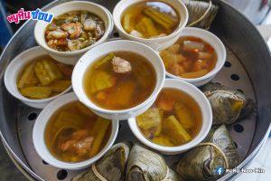ซุปเยื่อไผ่,ต้มจืดมะระกระดูกหมู,ข้าวหมูแดงอบน้ำผึ้งเตาปูน,เตาปูน,ข้าวหมูแดง